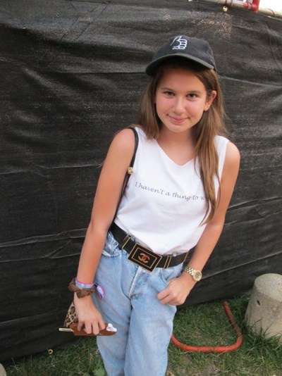 Eloise. Came to see: Kendrick Lamar. Why this outfit?  I tried it on a couple of months ago, and it finally fit, so I thought this would be the perfect place to wear it.