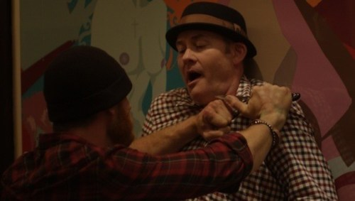 Koechner (right) with Ethan Embry in Cheap Thrills