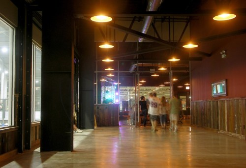 Looking into the tap room. The restrooms are out of frame to the right.