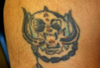 Mehta got this Motorhead tattoo in India when he was 15.