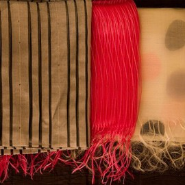 One-of-a-kind scarves at Ellie Thompson & Co. Friday and Sunday