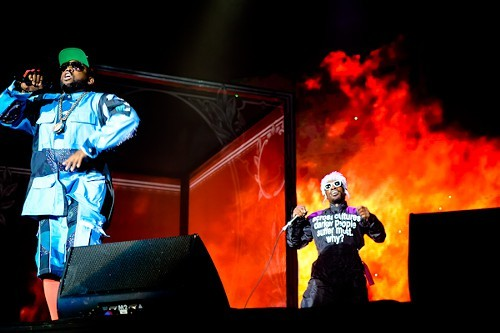 Outkast closed out Saturday with a blast.