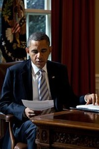 President Obama in the Oval Office in February