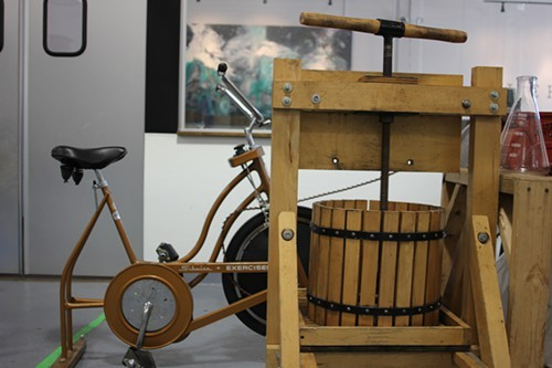 The apple-crushing velocipede.