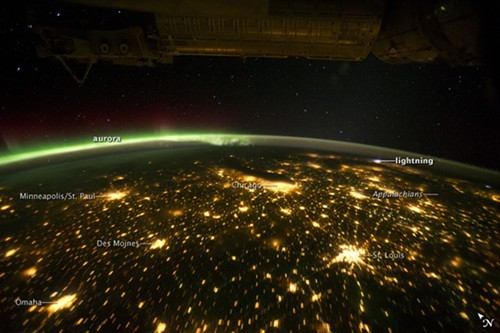 The aurora borealis from the edge of the earth, 2011
