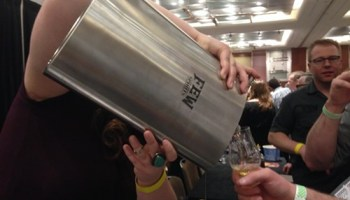 The biggest flask at WhiskyFest Chicago (possibly the only one)