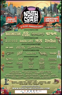 The flyer for this years North Coast Music Festival