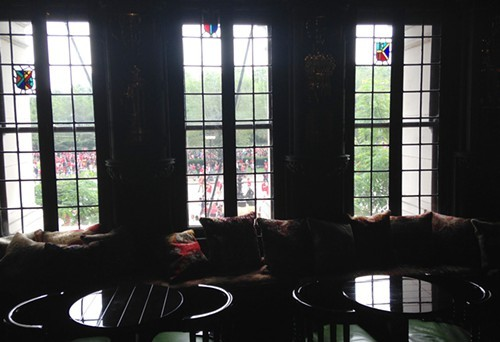 Michigan Avenue windows in the lobby at the Chicago Athletic Association