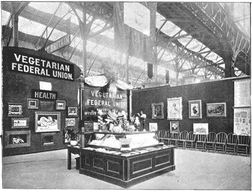 Vegetarian exhibit from England at the 1893 Columbian Exposition in Chicago.