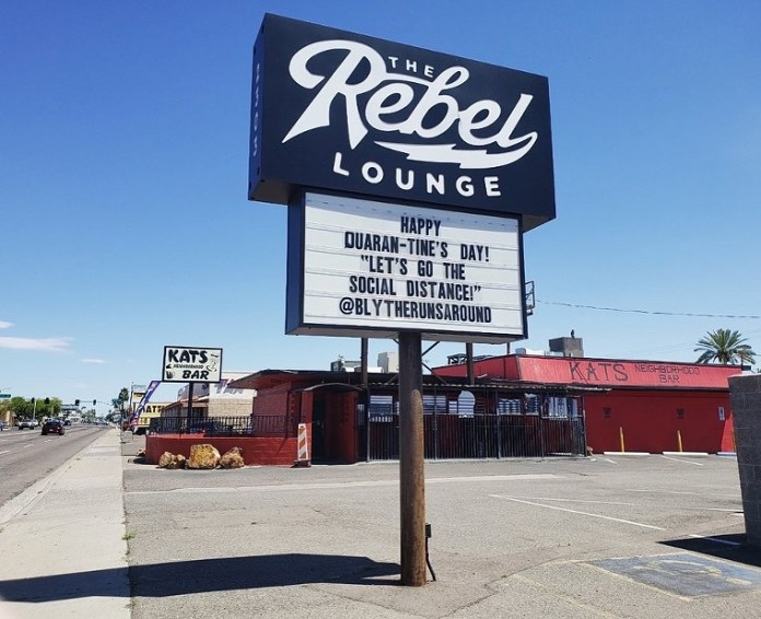 Don't forget a face mask on the first date. - THE REBEL LOUNGE/FACEBOOK