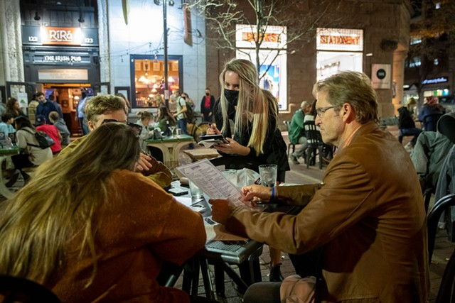 Outdoor dining at Sweetwater's - JAMES BUCK