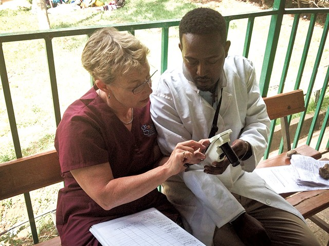 Ellen Starr and Mesfin Wana in Ethiopia - COURTESY OF GROUNDS FOR HEALTH