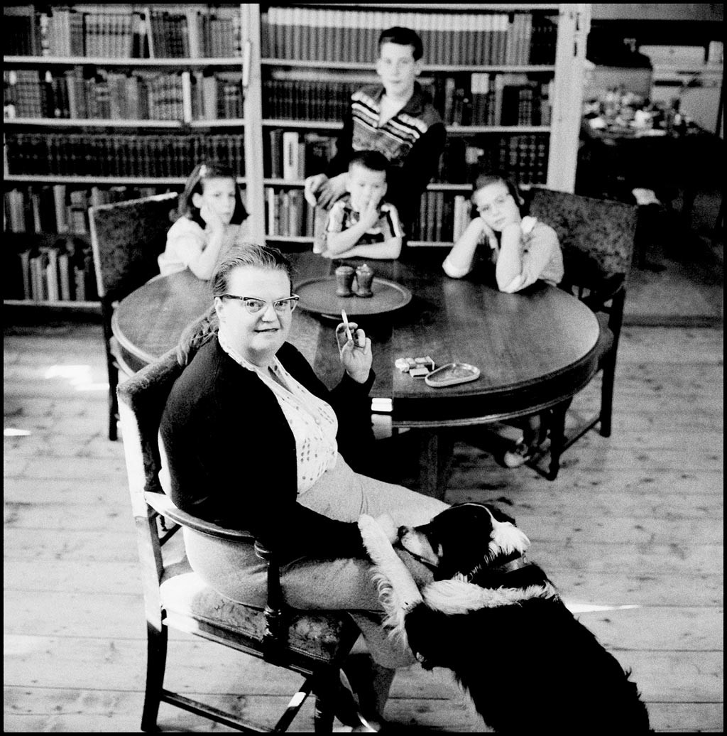 Looking for  The Lottery  Author Shirley Jackson   Culture   Seven     click to enlarge Shirley Jackson with her dog and four children in 1956    COURTESY OF BARRY HYMAN