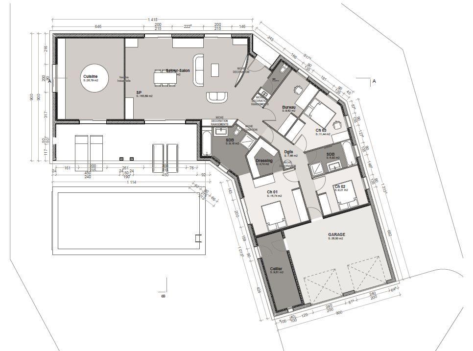 Avis Plan Maison Plain Pied En V 150m² 158 Messages
