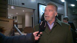 Arnold Schwarzenegger Budapesten az RTL Klubnak nyilatkozik Andy Vajna haláláról