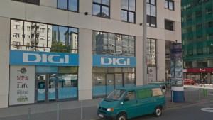 A DIGI budapesti, Váci úti ügyfélszolgálatának bejárata. Fotó: Google Utcakép