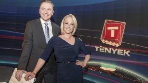 Gönczi Gábor és Marsi Anikó, a TV2 Tények műsovezetői