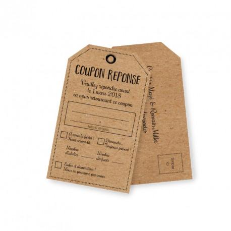 carton reponse rustique champetre