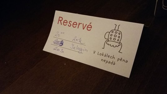 Rezervacija na kvarno precrtan broj stola