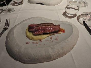 patka u sosu od vina na pireu sa dodatkom morske soli obogaćene vinom