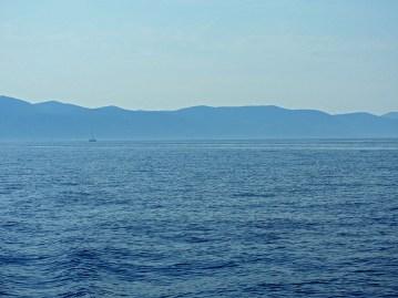 sumaglica na moru od korčule ka hvaru