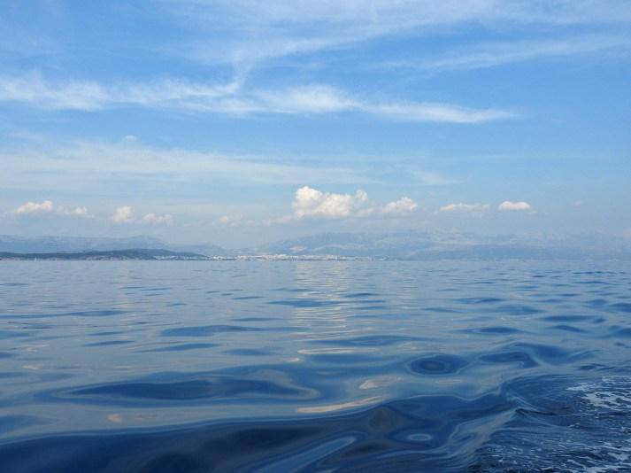 pogled sa broda na kopno