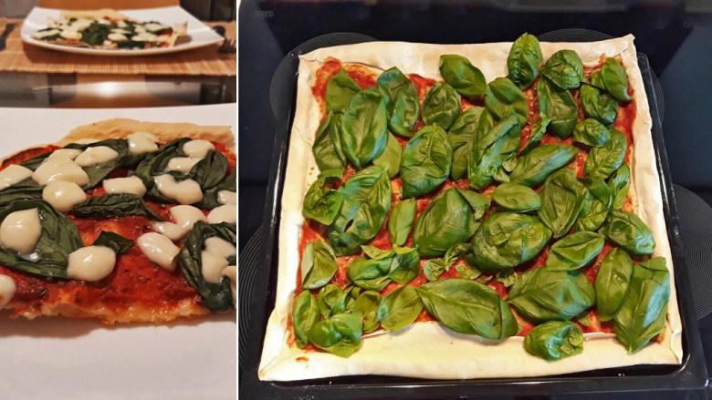 pizza sa bosiljkom i mocarelom