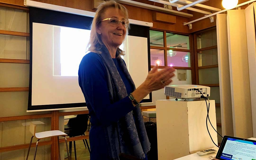 Pernilla Norman talar på NTKs nätverksmöte