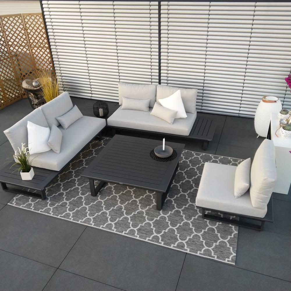 salon de jardin set grenoble gris anthracite