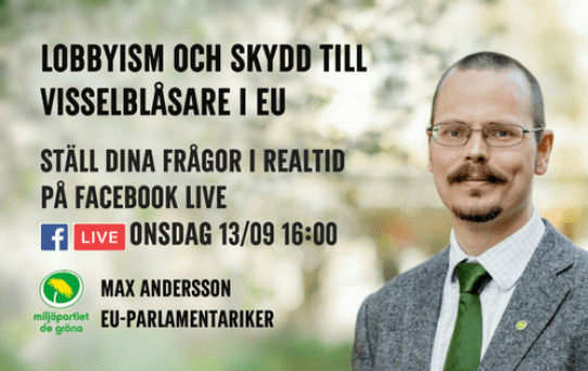 Max Andersson Facebook Live