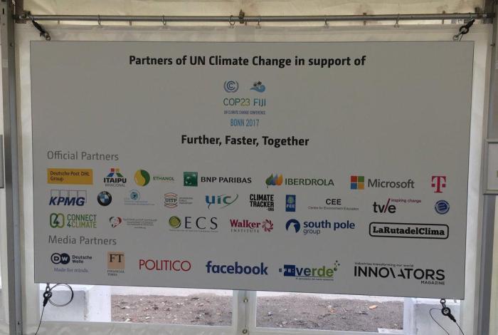 COP23 sponsors