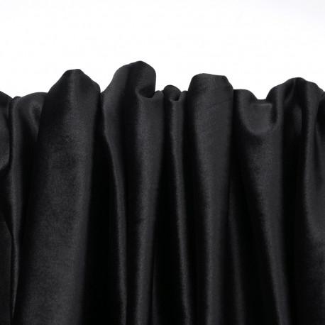tissu velours ras noir x 10cm