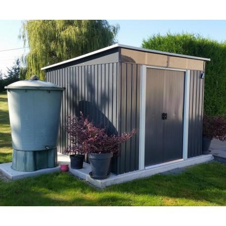 abri de jardin metal 6 67m skylight anthracite kit d ancrage x metal