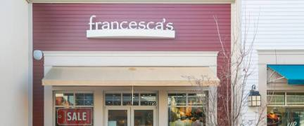 New Jersey, USA, January 1, 2019:A Francesca's store in New Jersey. There are over 670 Francesca's stores.