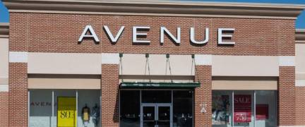 Trenton, NJ - April 1, 2019: This Avenue store is located at Hamilton Marketplace. Avenue is a clothing store specializing in womens plus sizes.