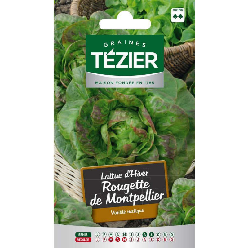montpellier redtte winter lettuce seed bag
