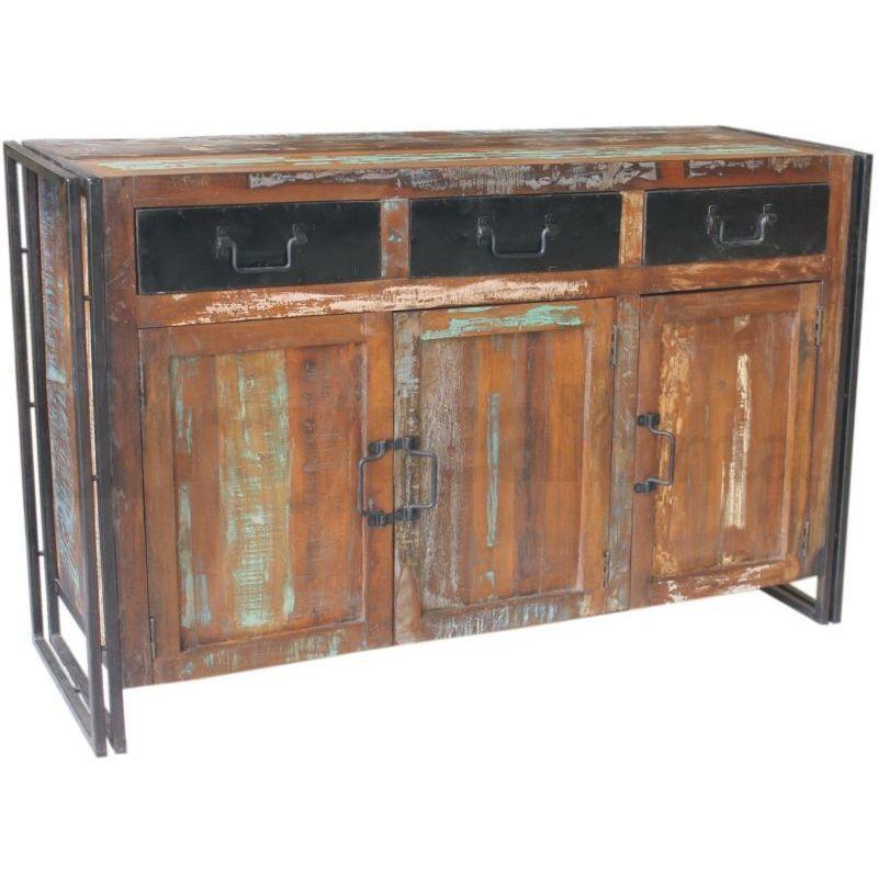 Ludlow Reclaimed Wood Rustic Sideboard Buffet Unit Buy Sideboards Amp Buffets