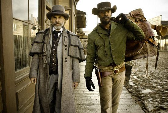 Jamie Foxx Django Unchained with Chrisoph Waltz Dr. King Schultz Quentin Tarantino