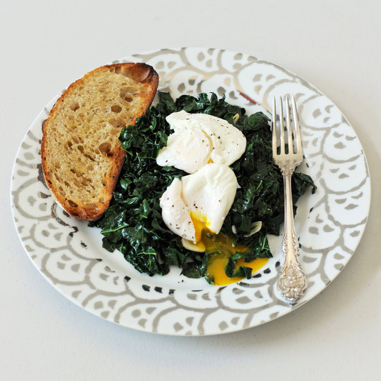 Spicy Kale & poached egg
