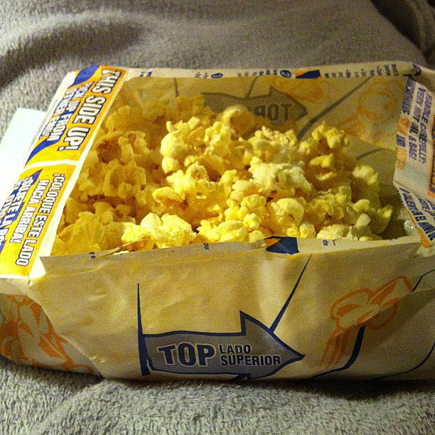 Eating Popcorn From a Bag