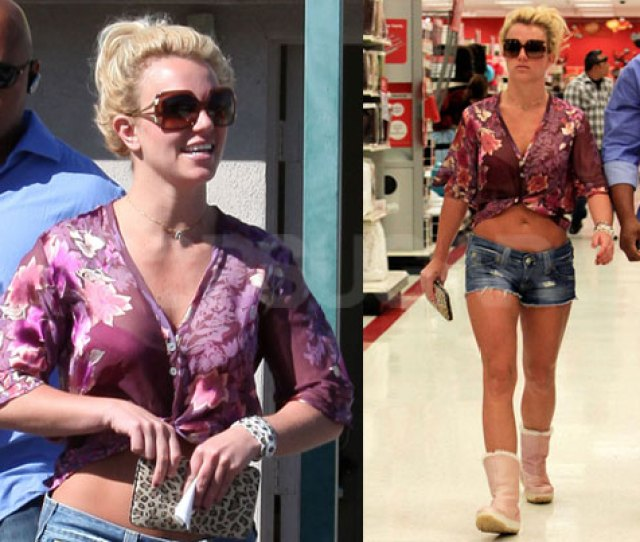 Photos Of Britney Spear At Target Showing Her Stomach In Short Shorts Popsugar Celebrity