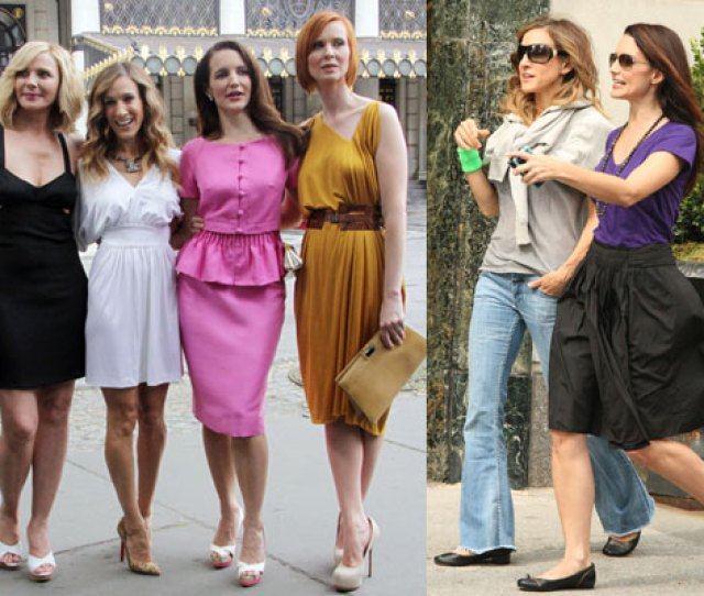 Photos Of Kristin Davis With Sex And The City 2 Costars Sarah Jessica Parker Cynthia Nixon Kim Cattrall