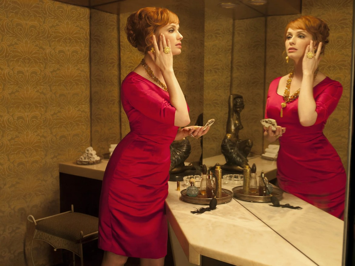Joan's Christmas Party Dress | The Mad Men Costumes True Fans Are ...