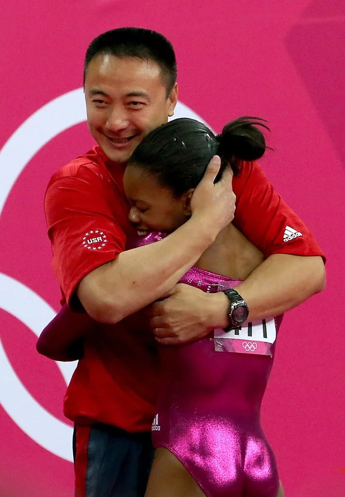 Gabby Douglas And Her Coach Liang Chow Had An Emotional