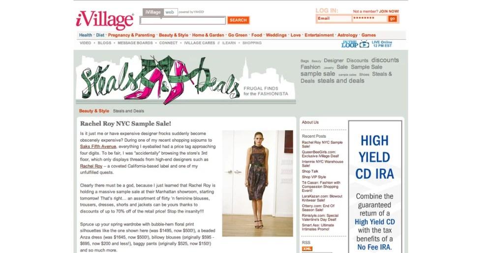 Fab Site: Steals & Deals on iVillage | POPSUGAR Fashion