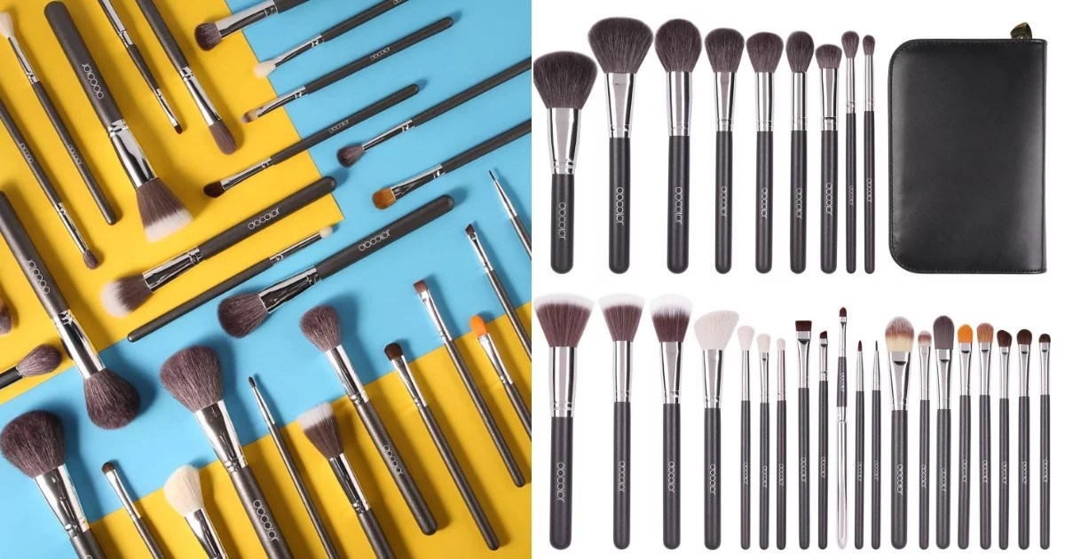 If you're in the market for some new beauty tools, we have found a major Cyber Monday deal for This Docolor Makeup Brushes 29-Piece Professional Makeup