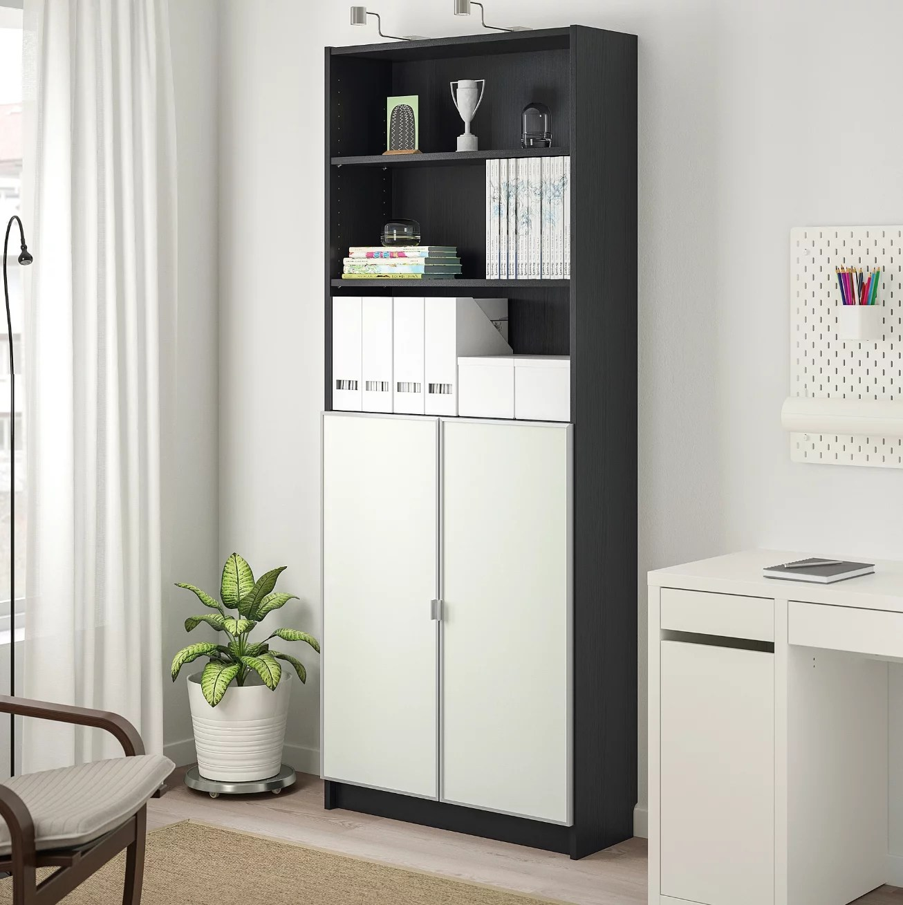 Billy Bookcase With Doors Small Spaces Big Furniture
