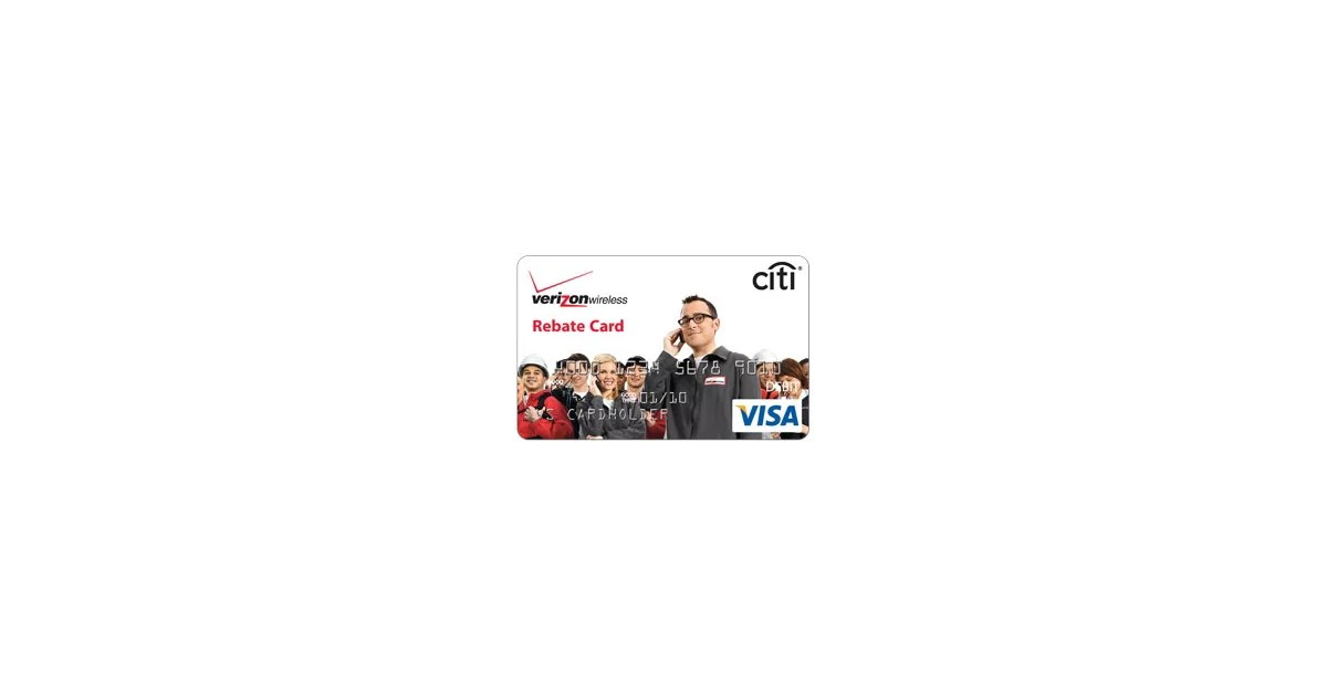rebate card Verizon wireless citi