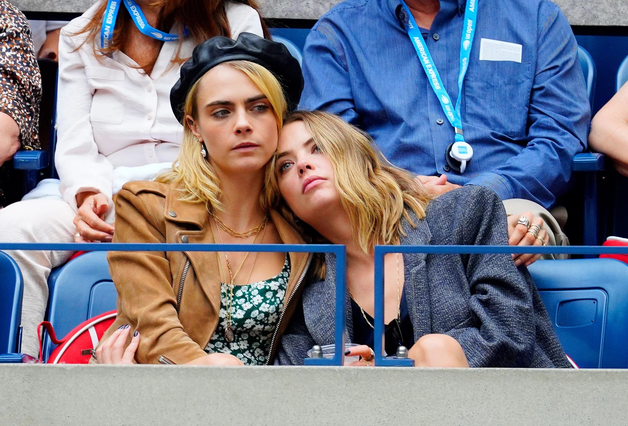 NEW YORK, NEW YORK - SEPTEMBER 07: Cara Delevingne and Ashley Benson attend the 2019 US Open Women's final on September 07, 2019 in New York City. (Photo by Gotham/GC Images)