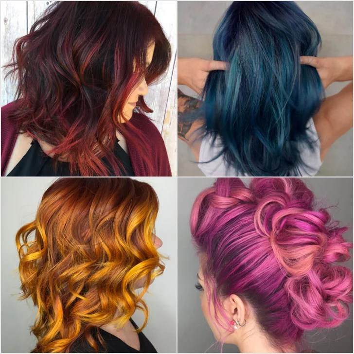 Rainbow Balayage Hair Colour Inspiration POPSUGAR Beauty